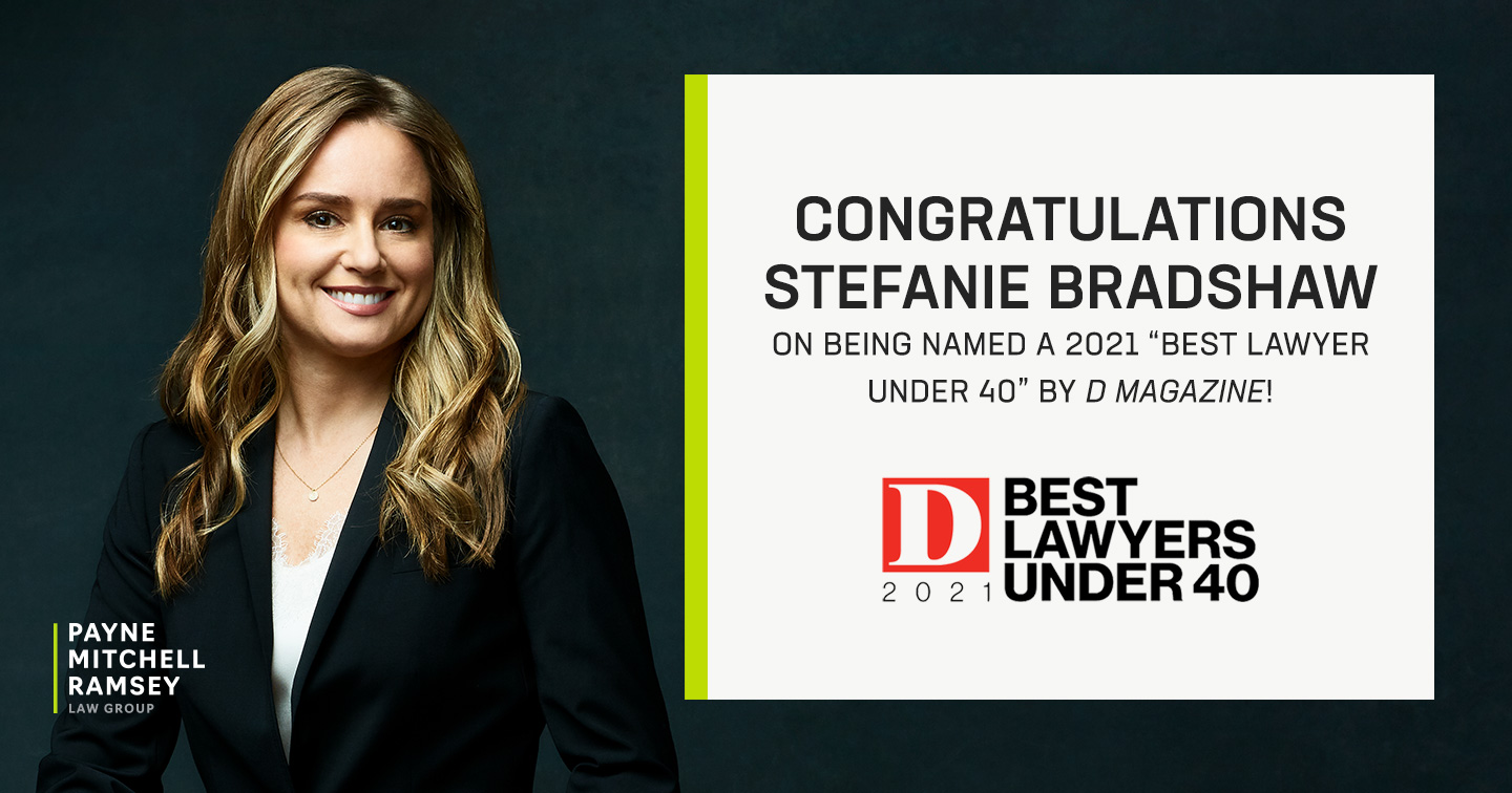 "Stefanie Bradshaw Named A 2021 ""Best Lawyer Under 40"""